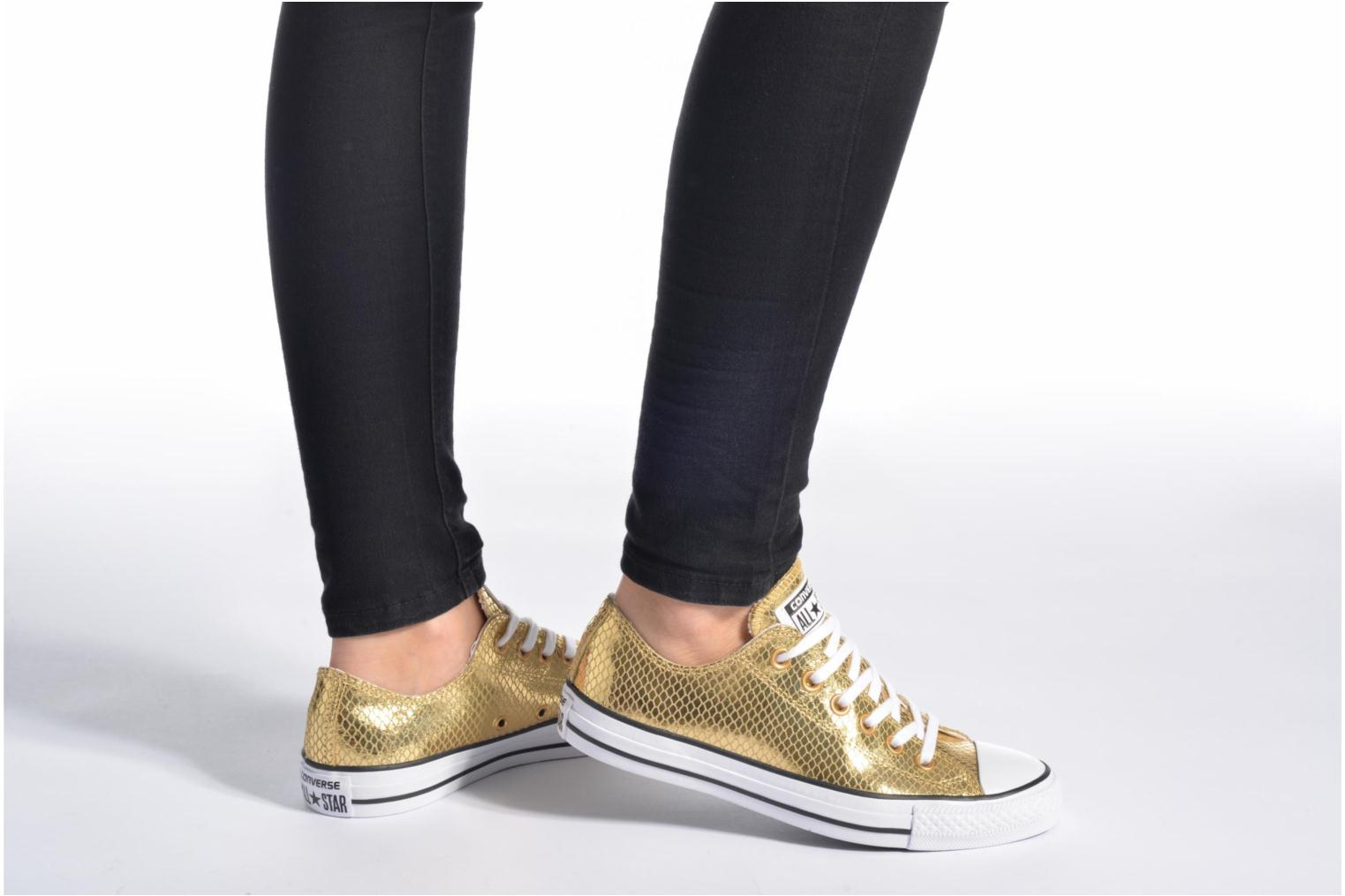 Chuck Taylor All Star Ox Metallic Snake Leather Gold/Black/White