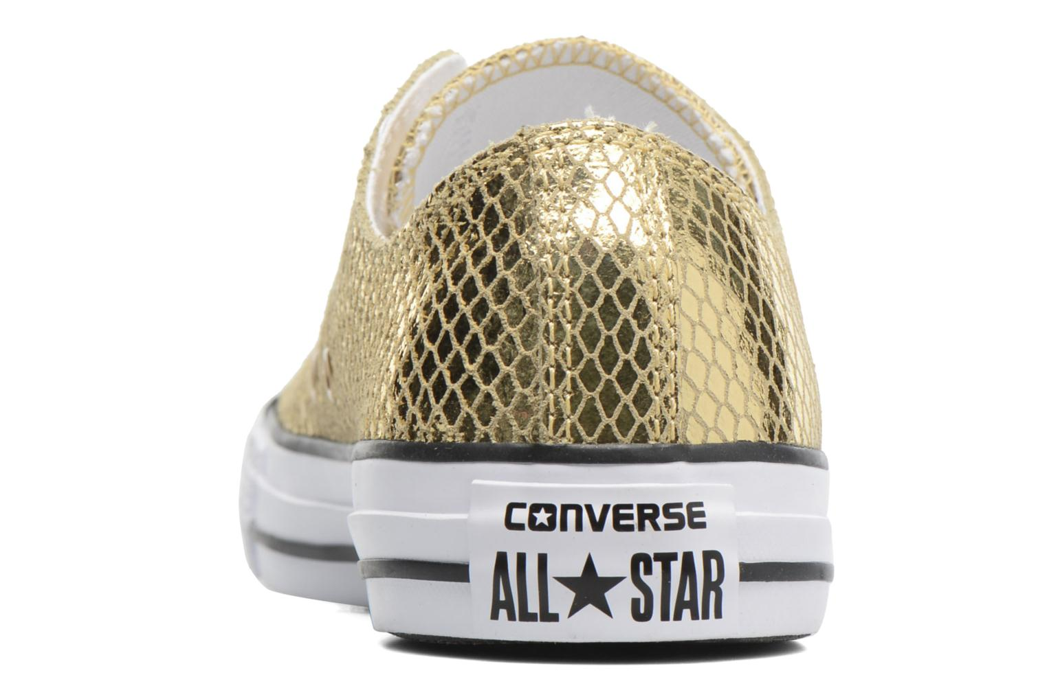 Baskets Converse Chuck Taylor All Star Ox Metallic Snake Leather Or et bronze vue droite