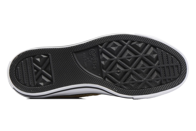 Baskets Converse Chuck Taylor All Star Ox Metallic Snake Leather Or et bronze vue haut