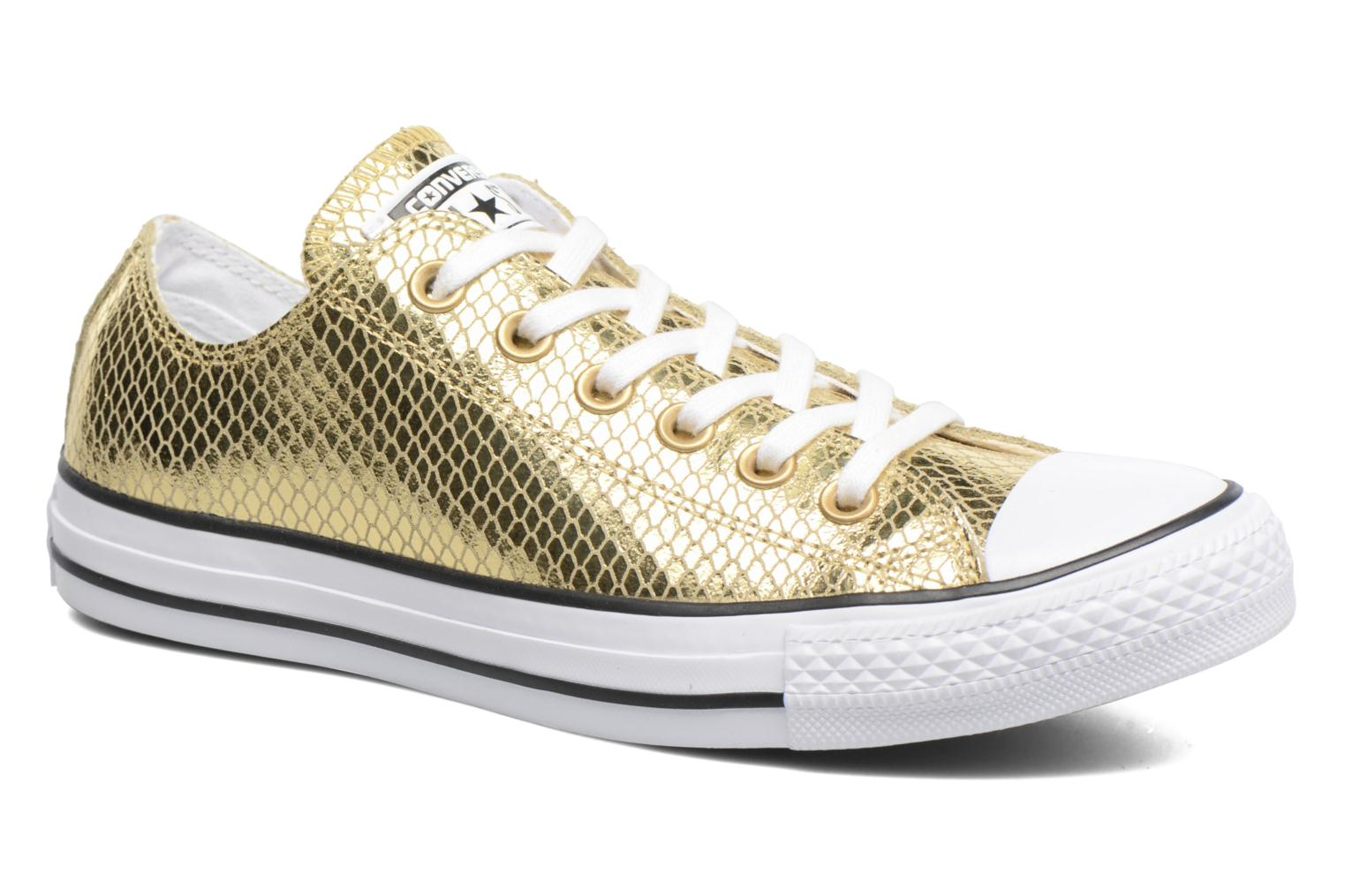 Sneakers Converse Chuck Taylor All Star Ox Metallic Snake Leather Goud en  brons detail
