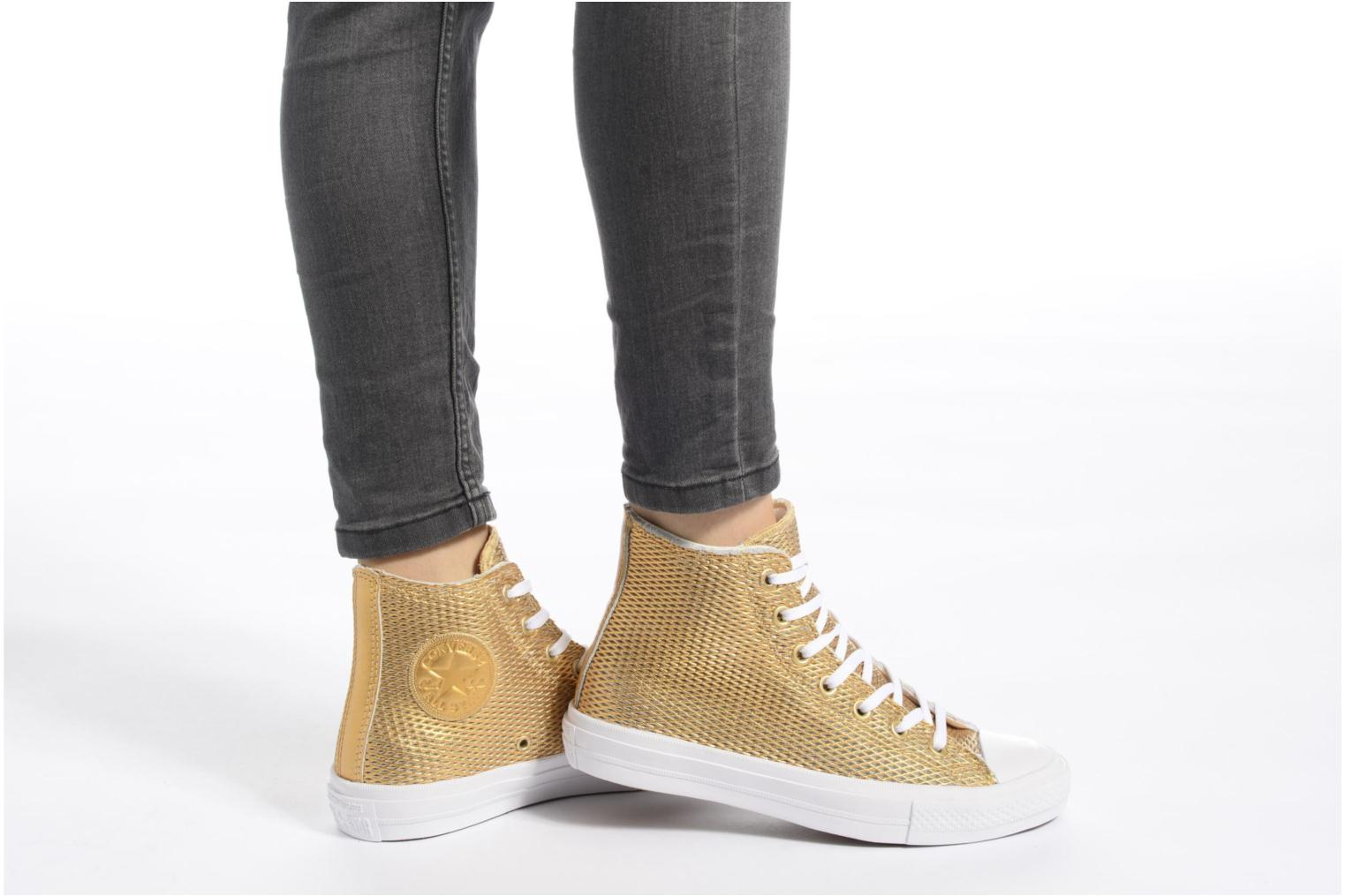 Metallic Gold Star Converse All Leather II White Hi Perf Chuck White Taylor nz774qtE0w