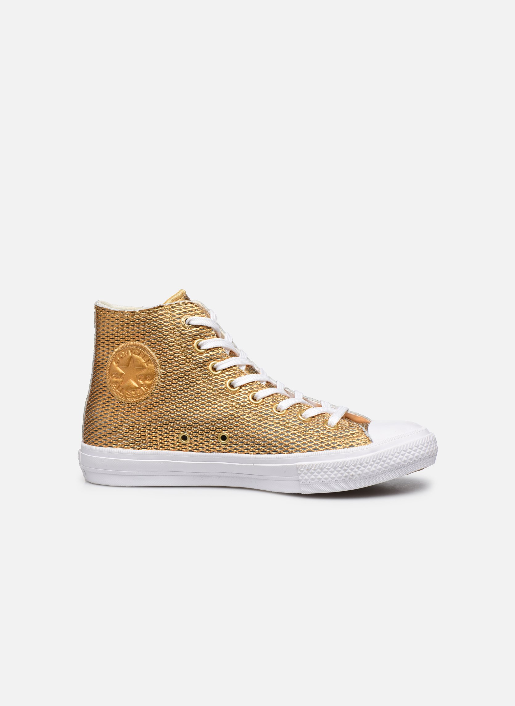 Chuck Taylor All Star II Hi Perf Metallic Leather Gold/White/White