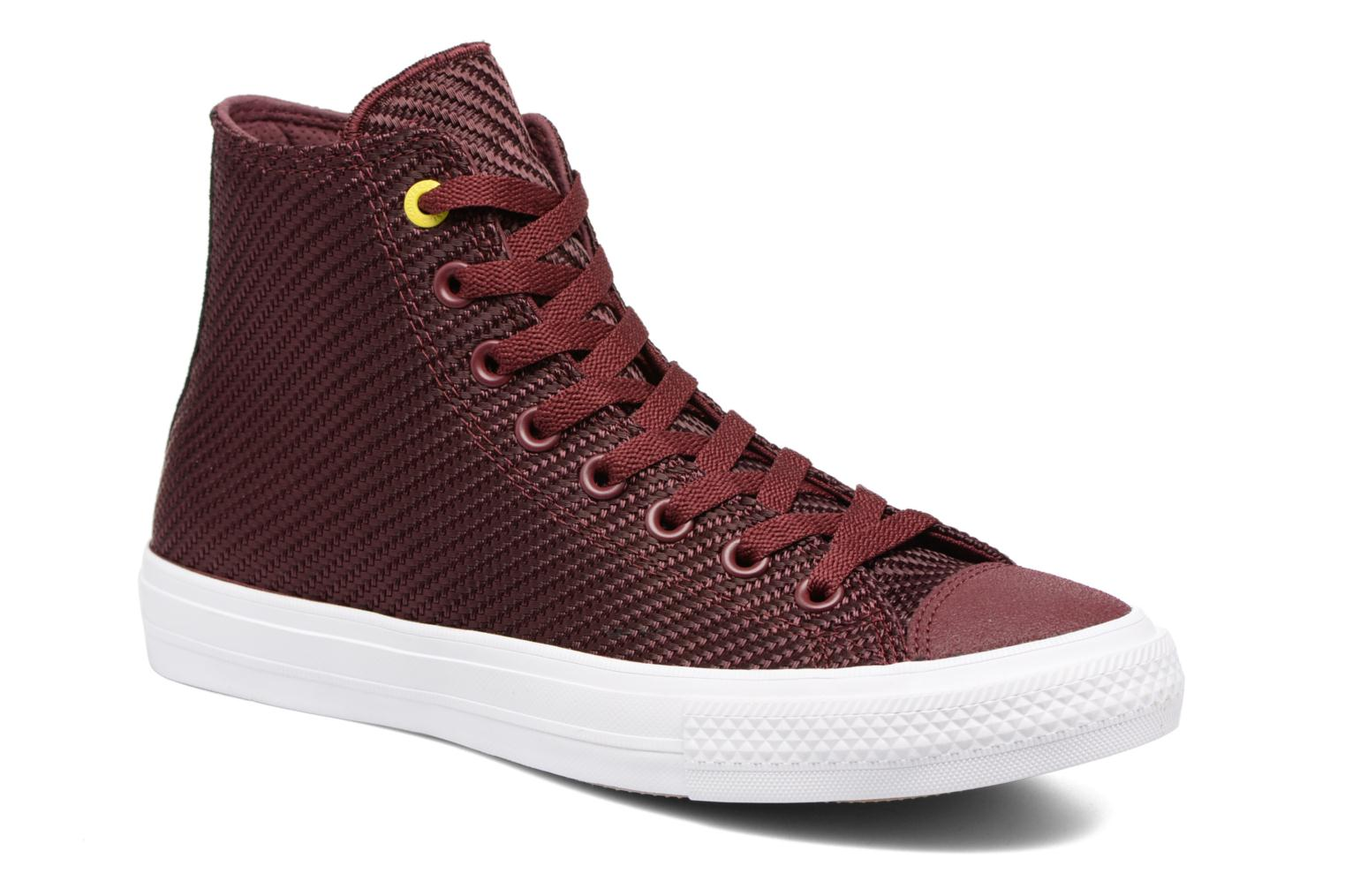 Baskets Converse Chuck Taylor All Star II Hi Sports Blocking Bordeaux vue détail/paire