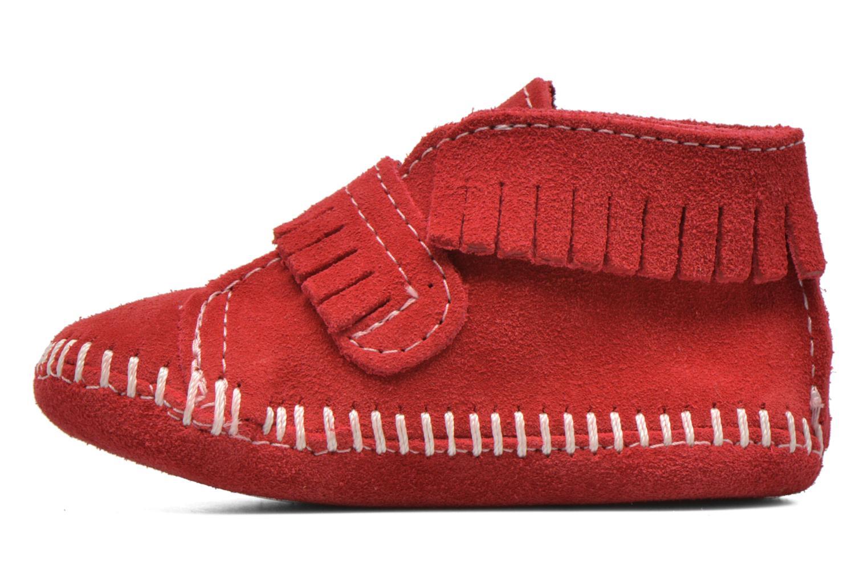 Bottines et boots Minnetonka Front Strap Bootie Rouge vue face