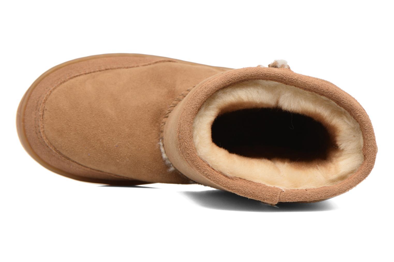 Stivali Minnetonka Short Sheepskin Pug Boot Marrone immagine sinistra