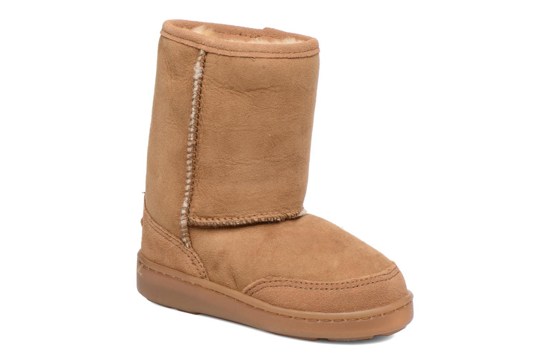 Short Sheepskin Pug Boot Gold Tan Sheepskin