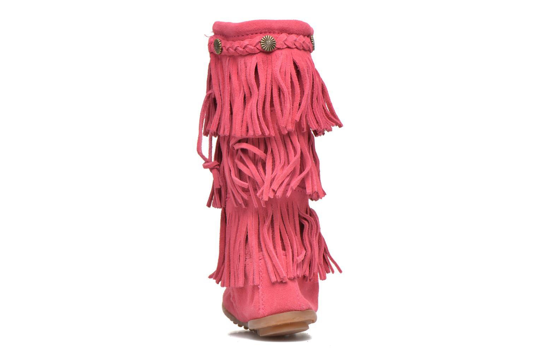 Bottes Minnetonka 3-Layer Fringe Boot E Rose vue droite