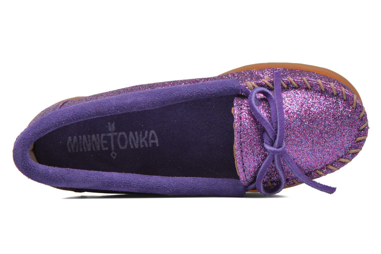 Mocassini Minnetonka Glitter Moc Viola immagine sinistra