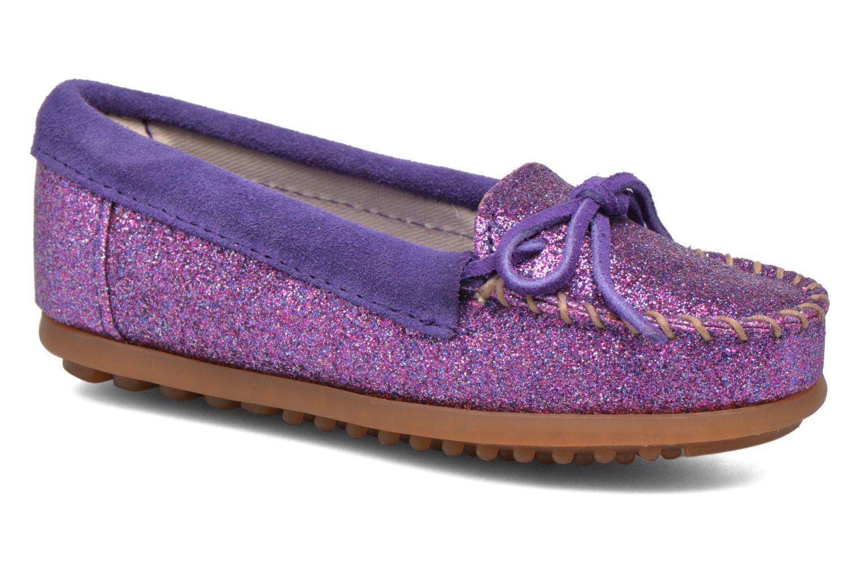 Mocassins Minnetonka Glitter Moc Paars detail