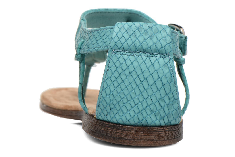 Sandales et nu-pieds Minnetonka Carnival Thong Bleu vue droite