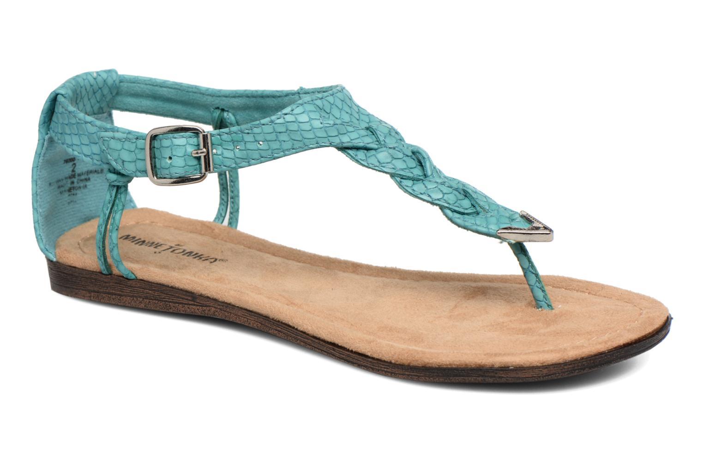 Sandales et nu-pieds Minnetonka Carnival Thong Bleu vue détail/paire