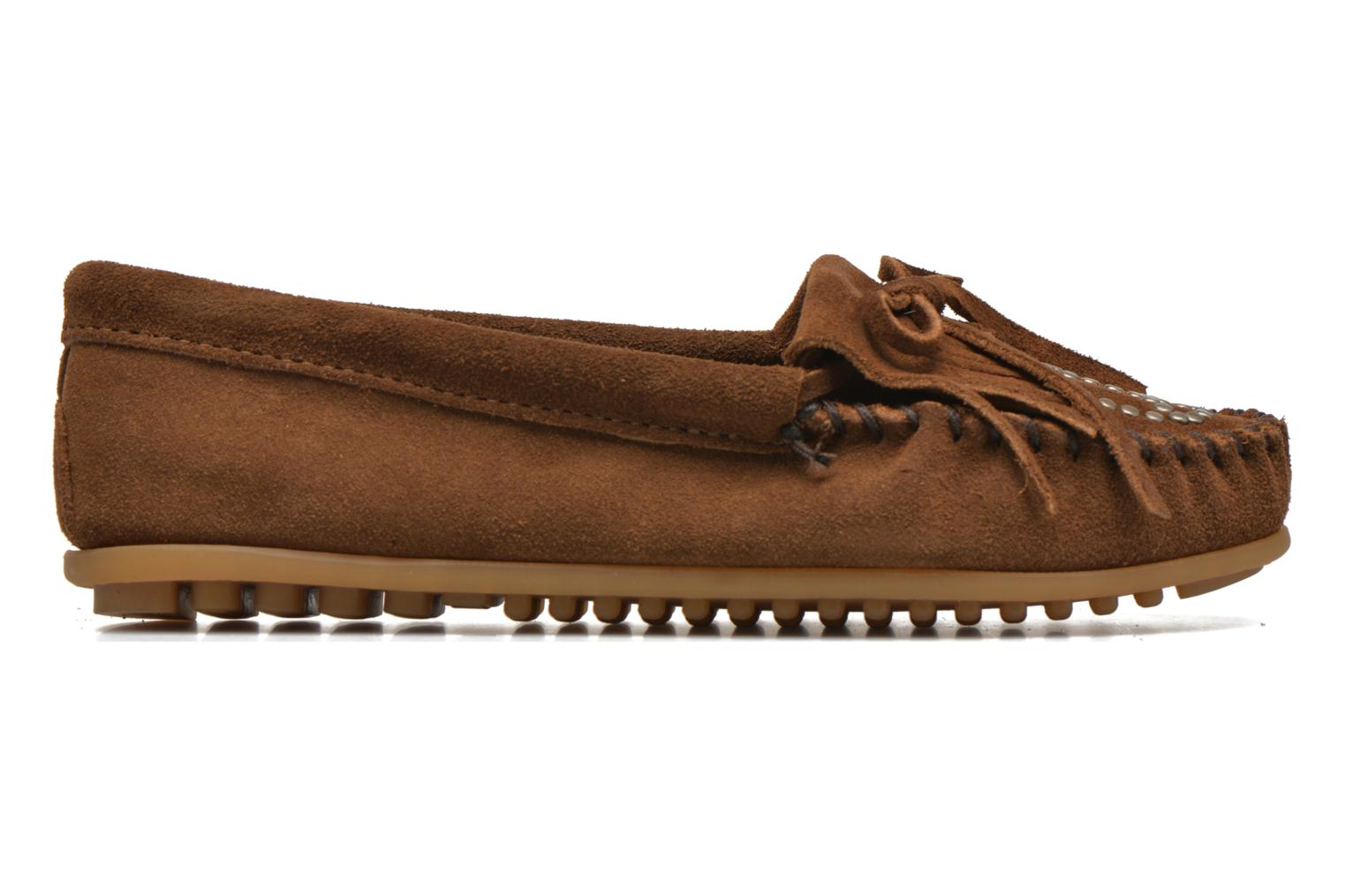 Kilty Suede Moc With Peace Sign DUSTY BROWN SUEDE