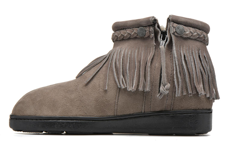 Bottines et boots Minnetonka Side Zip Pug Boot Gris vue face