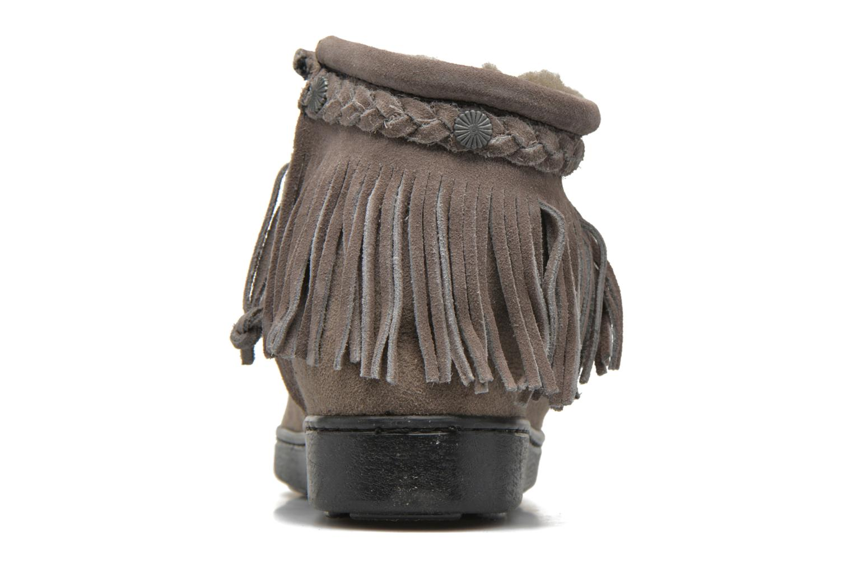 Bottines et boots Minnetonka Side Zip Pug Boot Gris vue droite
