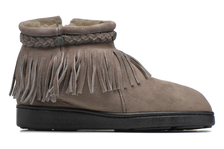 Bottines et boots Minnetonka Side Zip Pug Boot Gris vue derrière