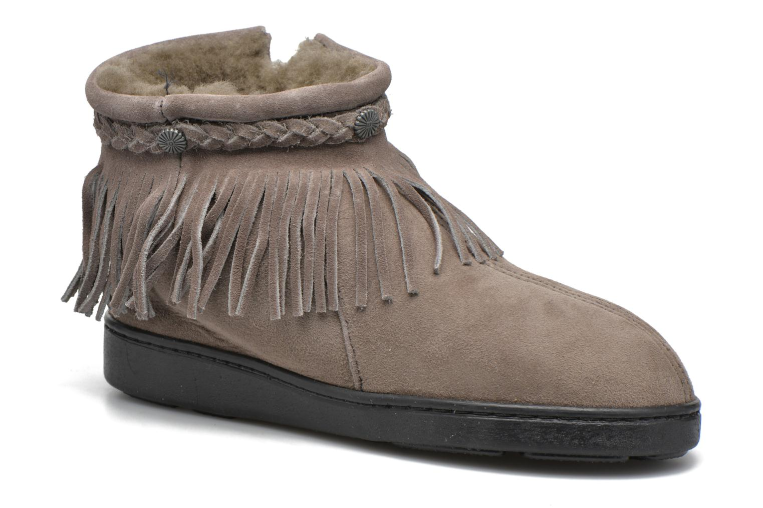 Side Zip Pug Boot Grey suede