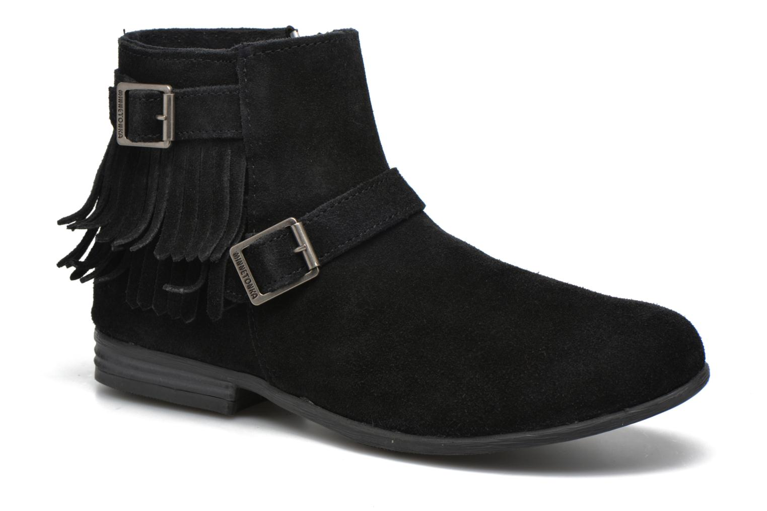 Ankle boots Minnetonka Rancho Boot Black detailed view/ Pair view
