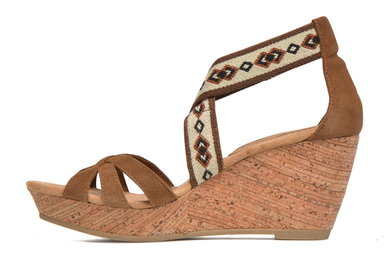 Sandali e scarpe aperte Minnetonka Drew Wedge Marrone immagine frontale
