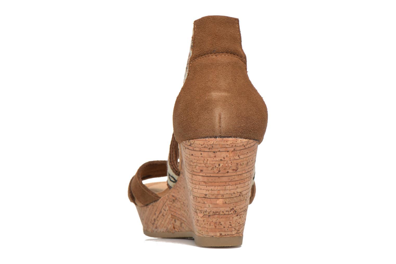 Sandali e scarpe aperte Minnetonka Drew Wedge Marrone immagine destra