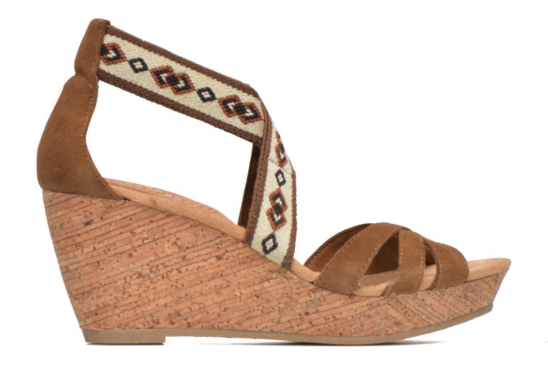 Sandali e scarpe aperte Minnetonka Drew Wedge Marrone immagine posteriore