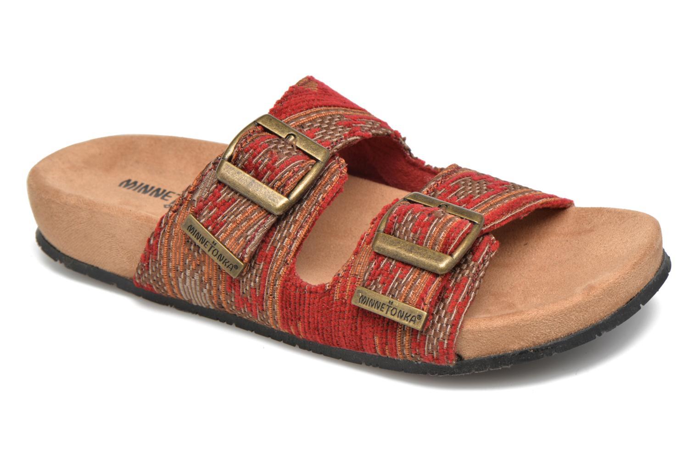 Mules et sabots Minnetonka Gipsy Sandal Rouge vue détail/paire