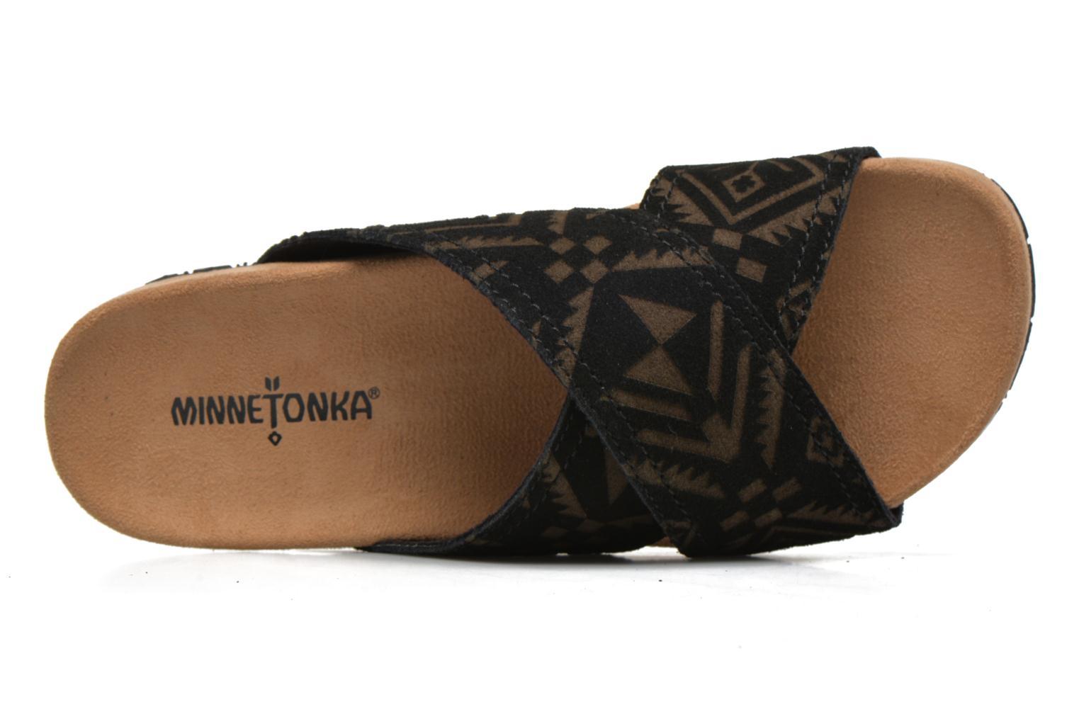 Mules & clogs Minnetonka Lyric Sandal Black view from the left