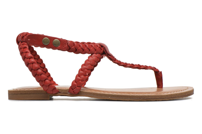Sandales et nu-pieds Minnetonka Liberty Thong Rouge vue derrière