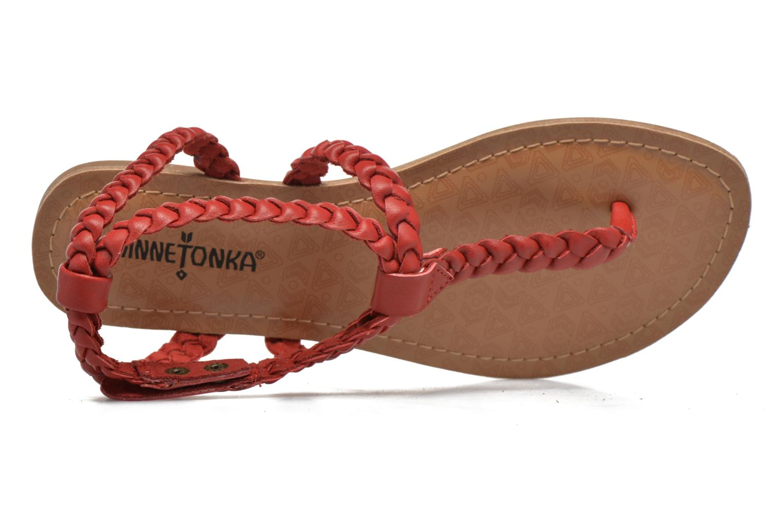 Sandales et nu-pieds Minnetonka Liberty Thong Rouge vue gauche