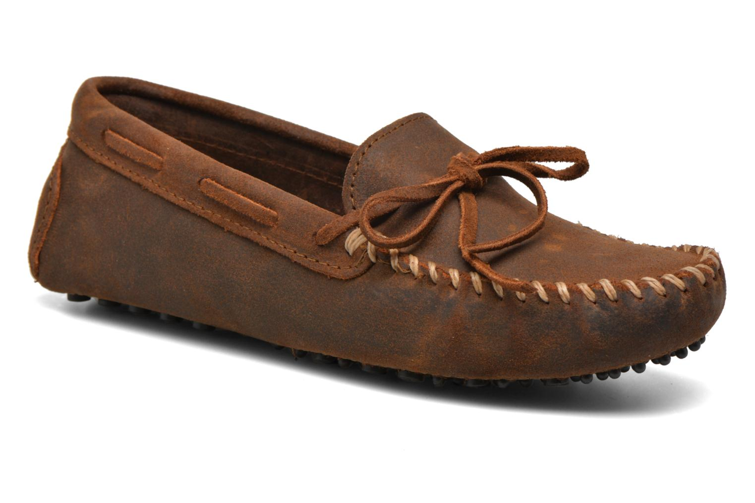 Classic Driver Moc H Brown Ruff Leather