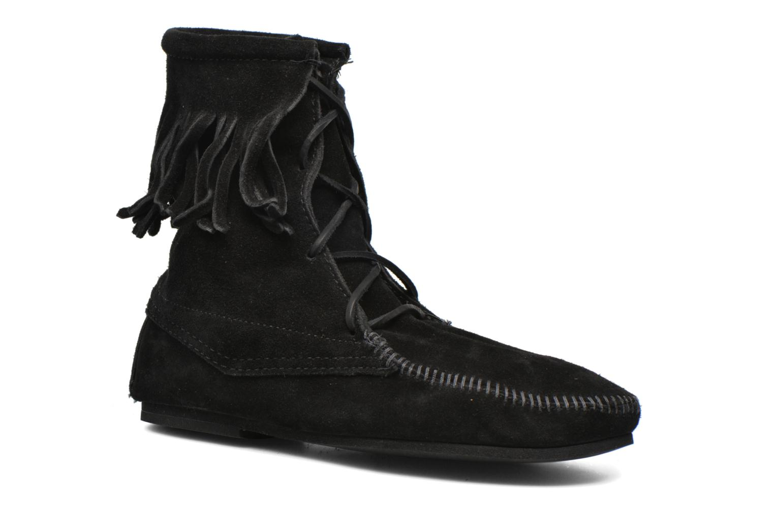Ankle boots Minnetonka Tramper Bt H Black detailed view/ Pair view