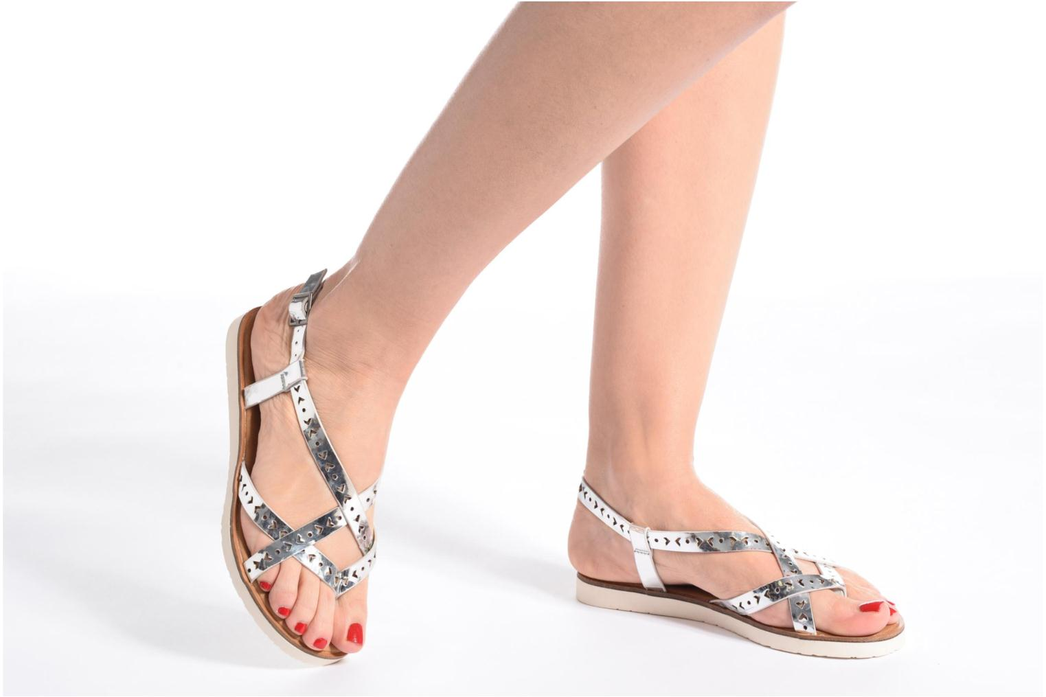Sandals Coolway Poppy Silver view from underneath / model view