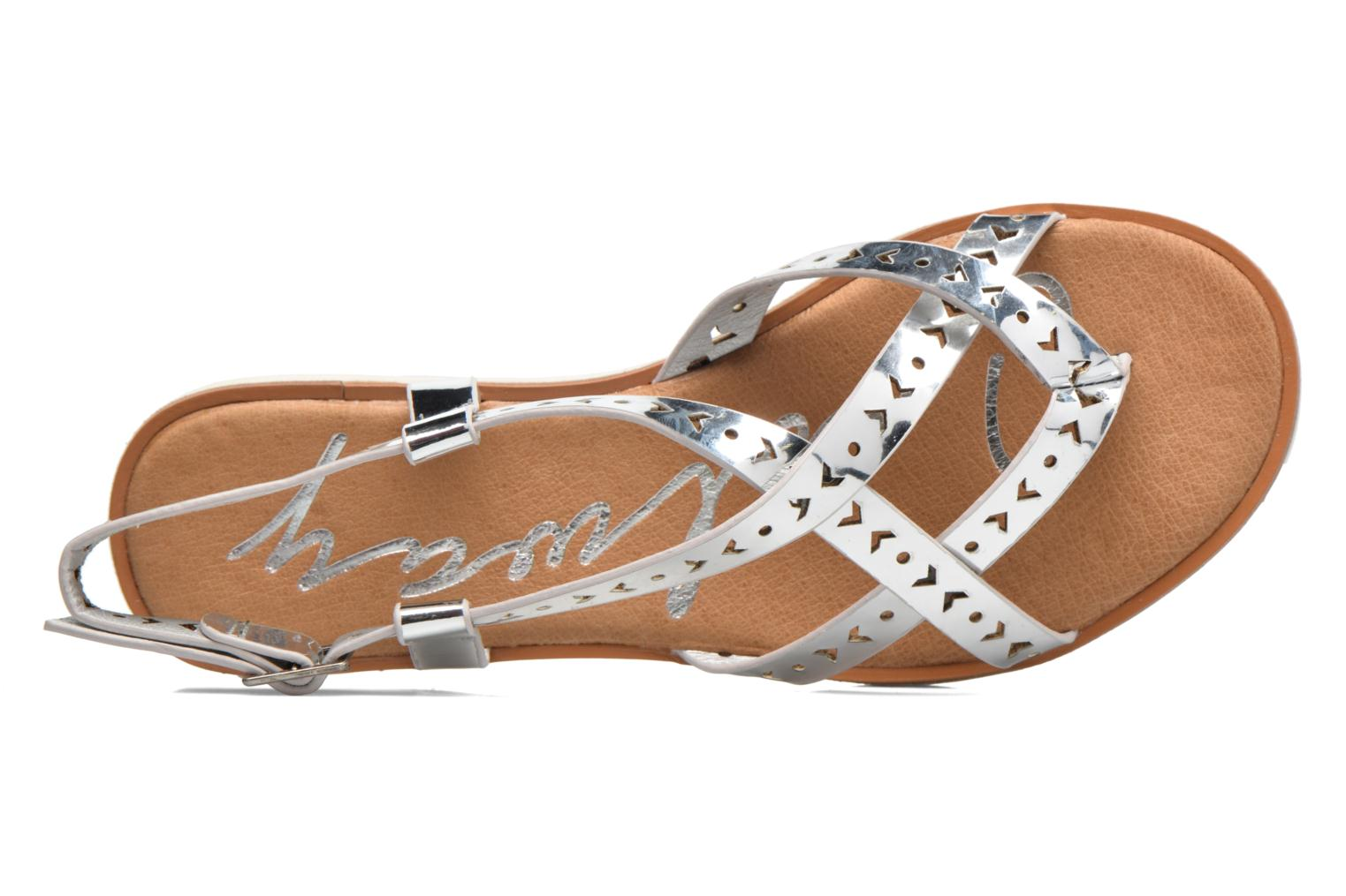 Sandals Coolway Poppy Silver view from the left
