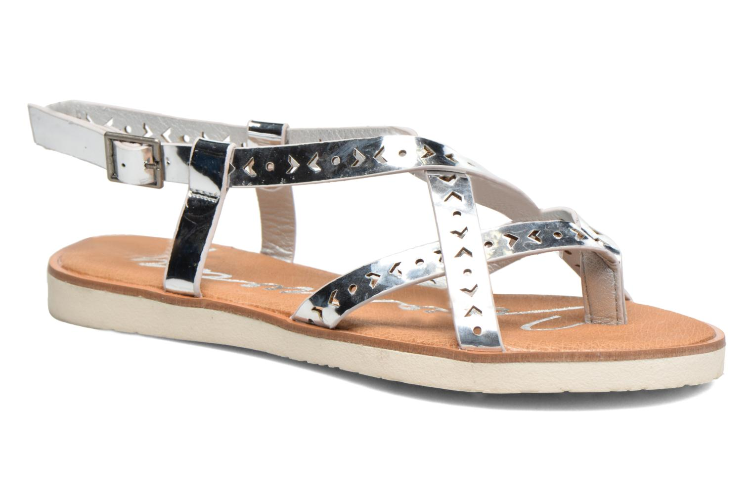 Sandals Coolway Poppy Silver detailed view/ Pair view