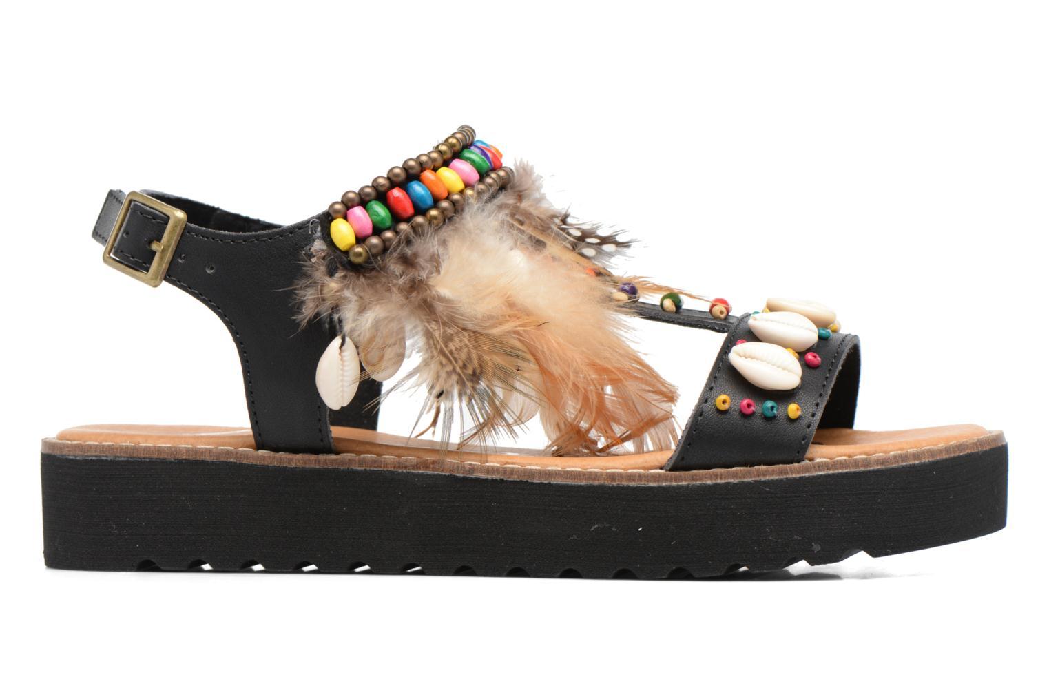 Sandales et nu-pieds Coolway Margarita Noir vue derrière