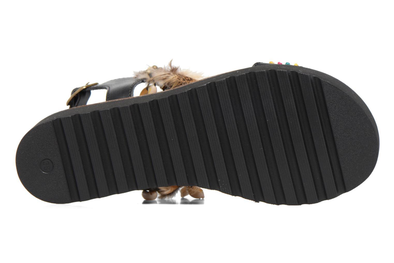 Sandales et nu-pieds Coolway Margarita Noir vue haut