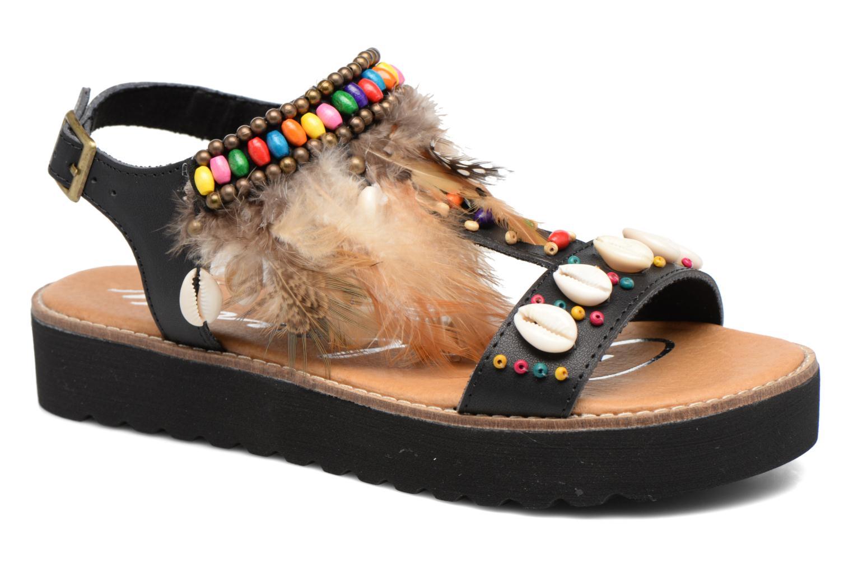 Sandales et nu-pieds Coolway Margarita Noir vue détail/paire