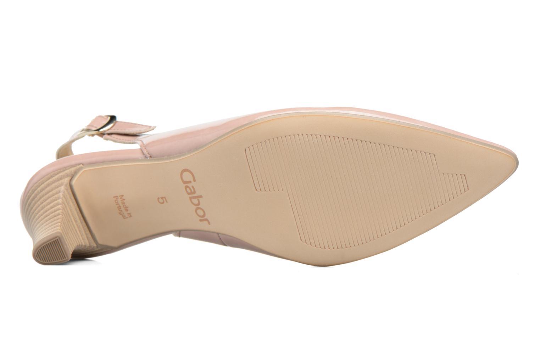 Zapatos de tacón Gabor Napa Beige vista de arriba