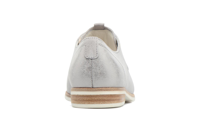 Zapatos con cordones Gabor Napoli Plateado vista lateral derecha