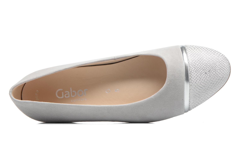 Zapatos de tacón Gabor Kreta 3 Gris vista lateral izquierda