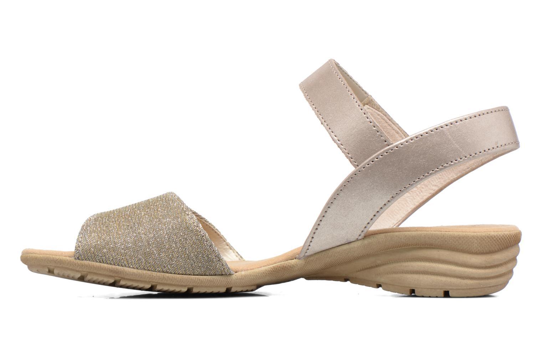 Sandales et nu-pieds Gabor Ferrare Argent vue face
