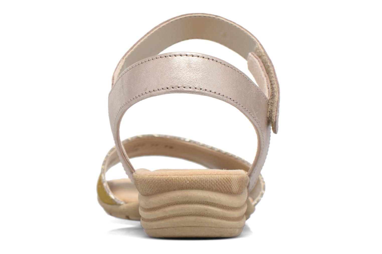 Sandales et nu-pieds Gabor Ferrare Argent vue droite