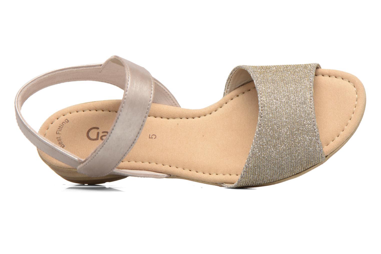 Sandales et nu-pieds Gabor Ferrare Argent vue gauche