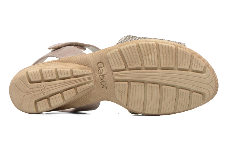 Sandales et nu-pieds Gabor Ferrare Argent vue haut