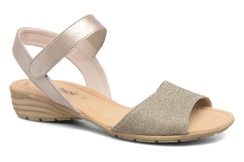 Sandales et nu-pieds Gabor Ferrare Argent vue détail/paire
