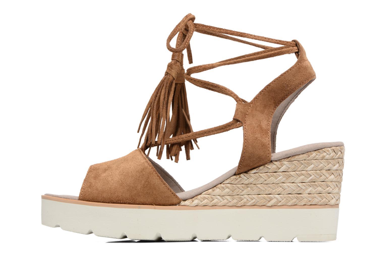 Sandales et nu-pieds Gabor Vittoria Marron vue face