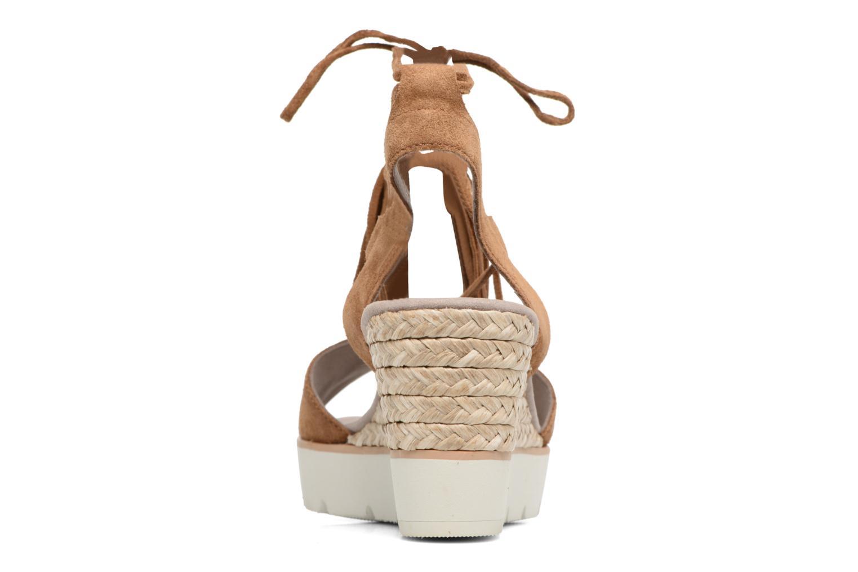 Sandales et nu-pieds Gabor Vittoria Marron vue droite
