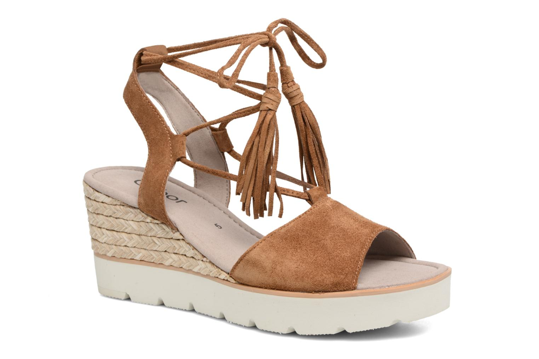 Sandales et nu-pieds Gabor Vittoria Marron vue détail/paire