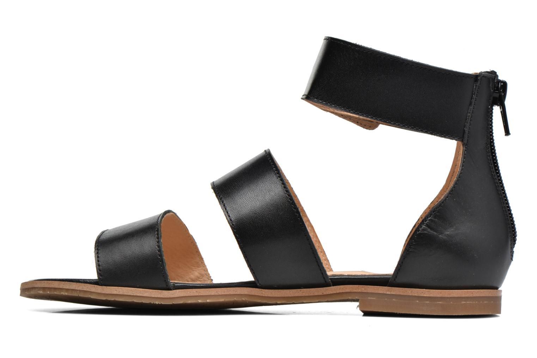 Sandales et nu-pieds Yep Martine Noir vue face