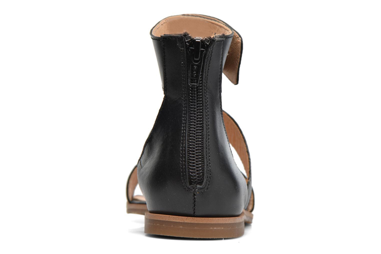 Sandales et nu-pieds Yep Martine Noir vue droite
