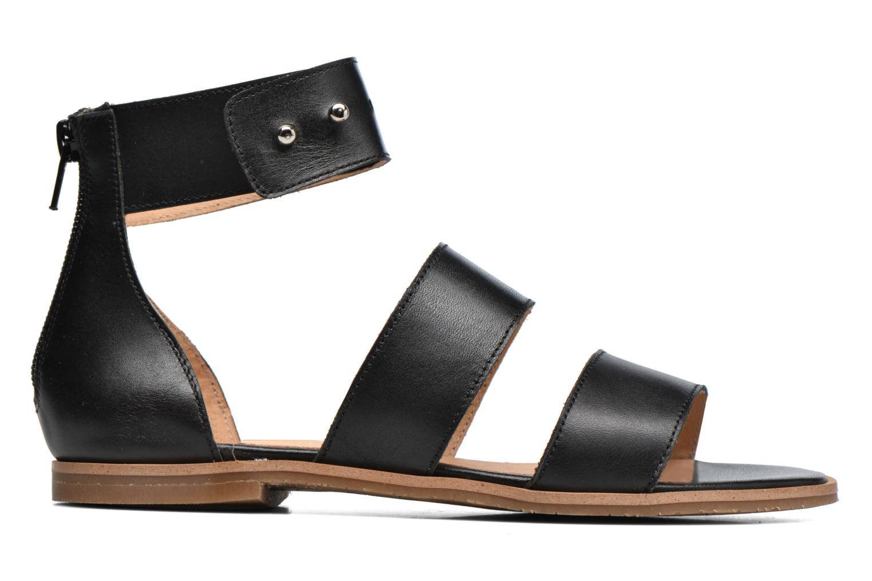 Sandales et nu-pieds Yep Martine Noir vue derrière